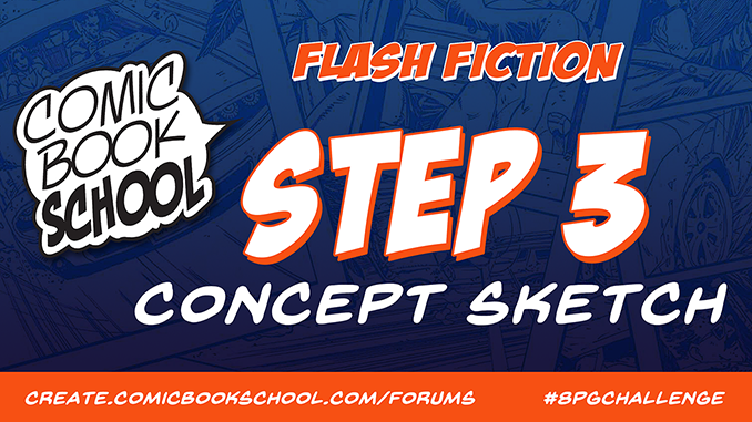 Flash Fiction Forum Header for Step 3